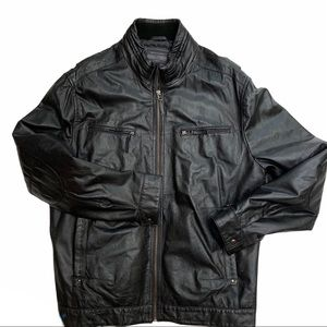 BOUTIQUE OF LEATHERS perforated side leather coat